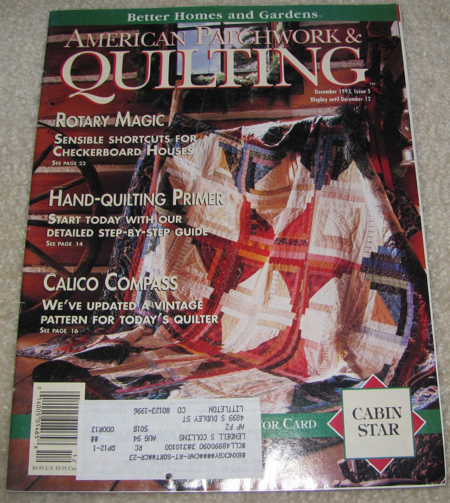 American Patchwork & Quilting December 1993 Issue 5