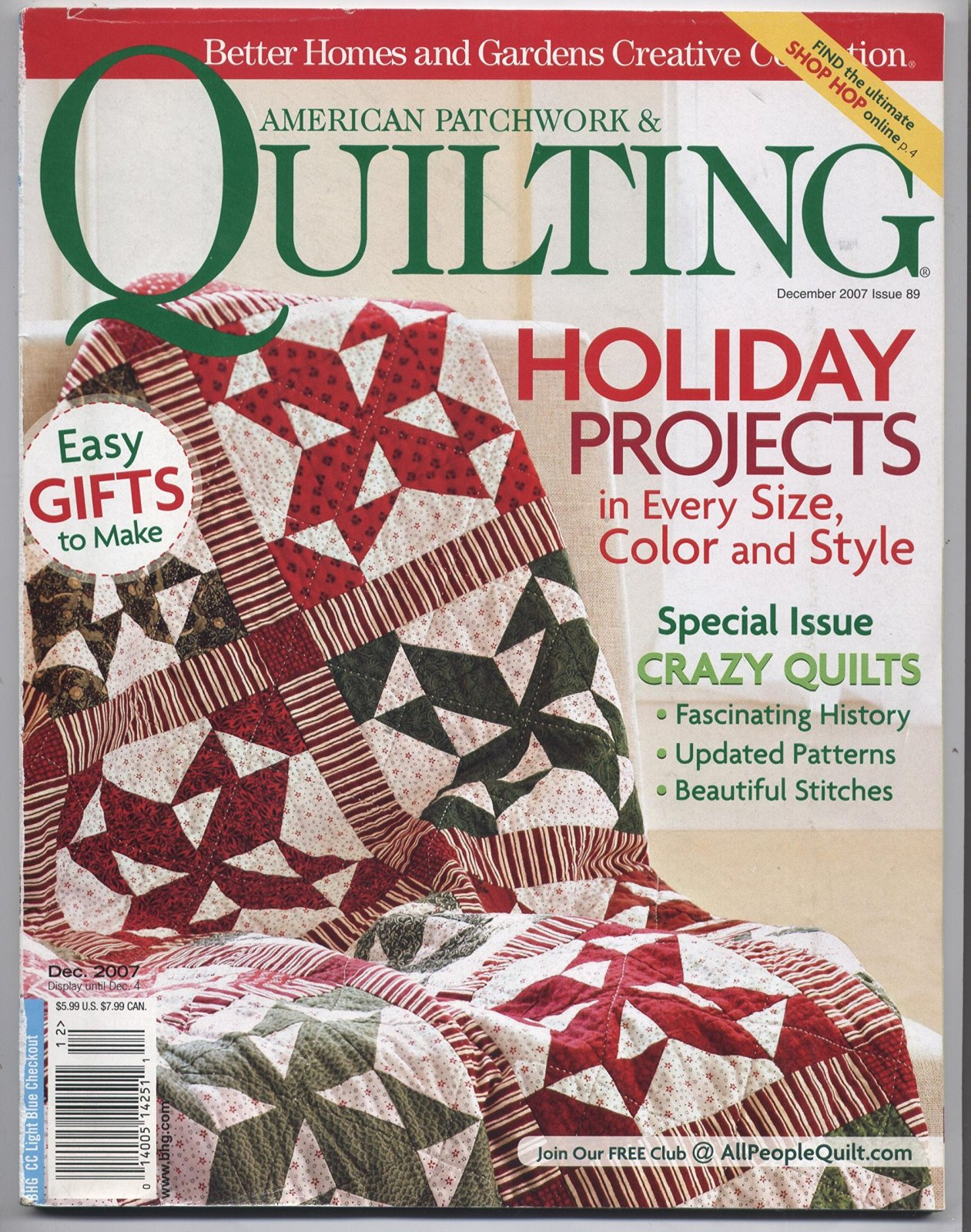 American Patchwork & Quilting December 2007 Issue 89