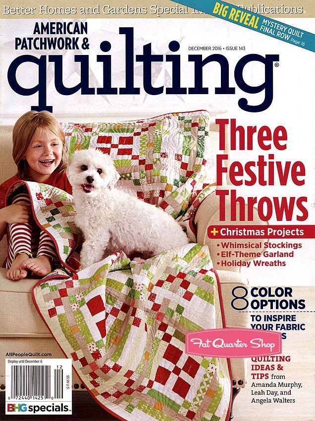 American Patchwork & Quilting December 2016 Issue 143