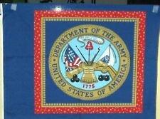 Fabric Cotton USA Patriotic Fabric Pillow Panel Army SEAL CIRCLES 15 INCH DIAMETER