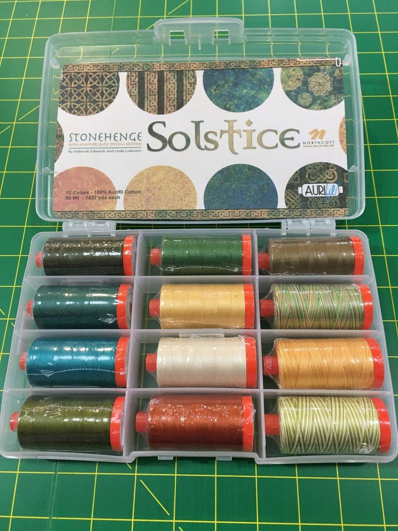 Thread Stonegenge Solstice 12 spool Aurifill Collection