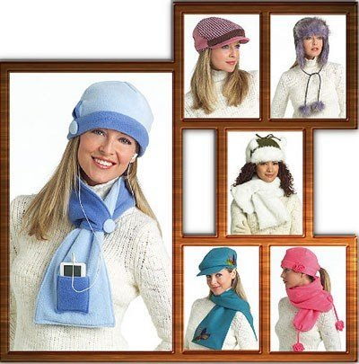 Sewing Pattern  BUTTERICK PATTERN B4883 HATS AND SCARVES ONE SIZE by Butterick