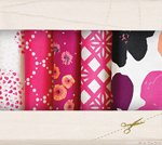 Fabric Cotton Color Master 10 Fat Quarter Cuts by Art Gallery Fabrics Pomegranate Tart Collection