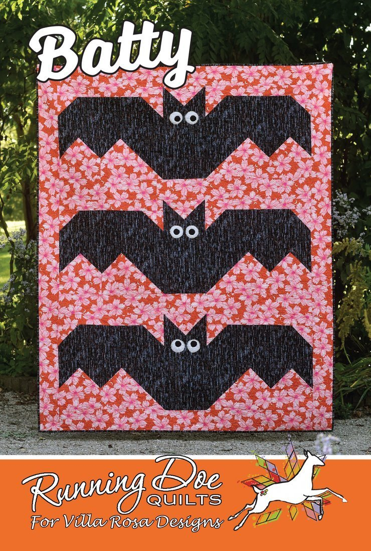 Batty Running Doe Quilts for Villa Rosa Designs 2019 Catherine Cureton