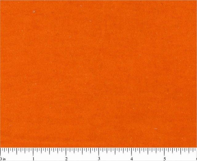 Fabric Cotton Flannel Solid Orange 44/45'' 100% cotton