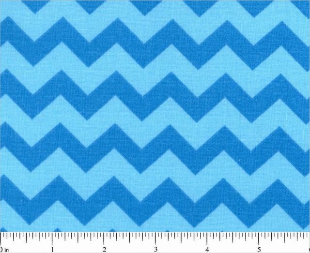Fabric Cotton Chevron One half 1/2 inch Color Blue on Blue Tonal 44/45'' 100% Cotton