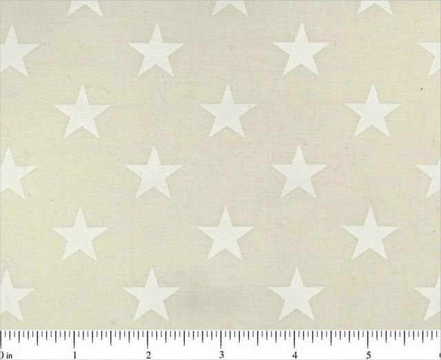 2 7/8 yard x 108 wide backing Tone on tone white on ivory Stars in rows 100% Cotton