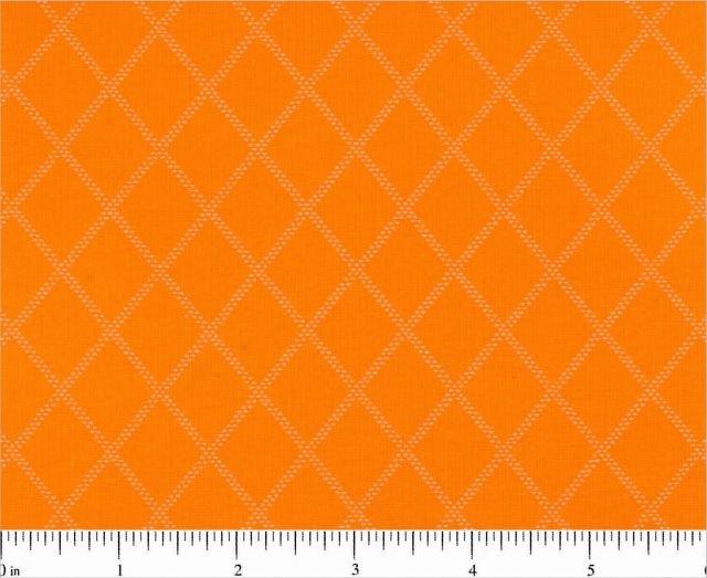 Fabric Cotton Diamonds and Dashes by Choice Fabrics UT Orange Tonal Diamonds