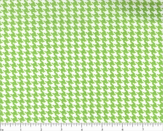 Fabric Cotton Hounds & Dots by Choice Fabrics Lime Green Houndstooth