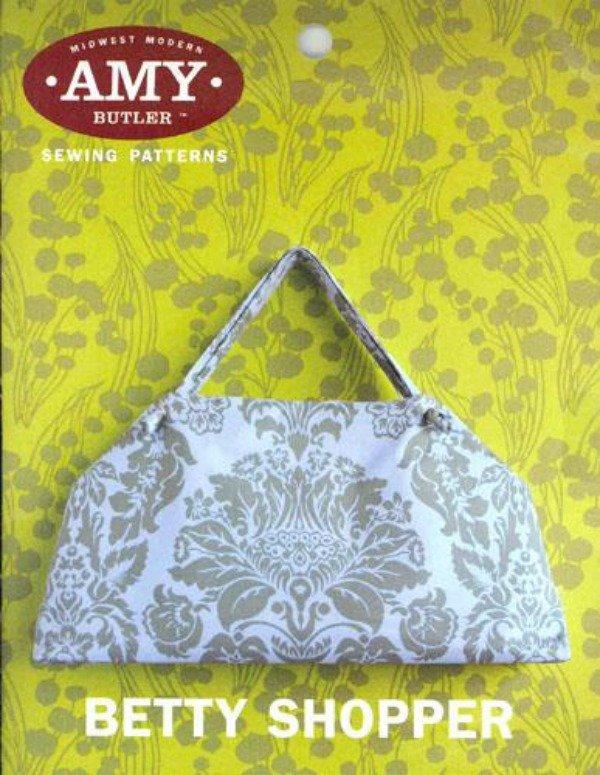 Midwest Modern Sewing Patterns  Betty Shopper - Amy Butler  -Lrg Shoulder Bag & Portfolio