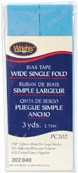 Wrights Wide Bias Tape Single Fold 7/8 inch 3 yards Lt Bl 52
