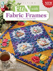 Booklet QUILT PATTERN BOOK Fun with Fabric Frames HOW TO BOOK WITH PATTERNS House of White Birches