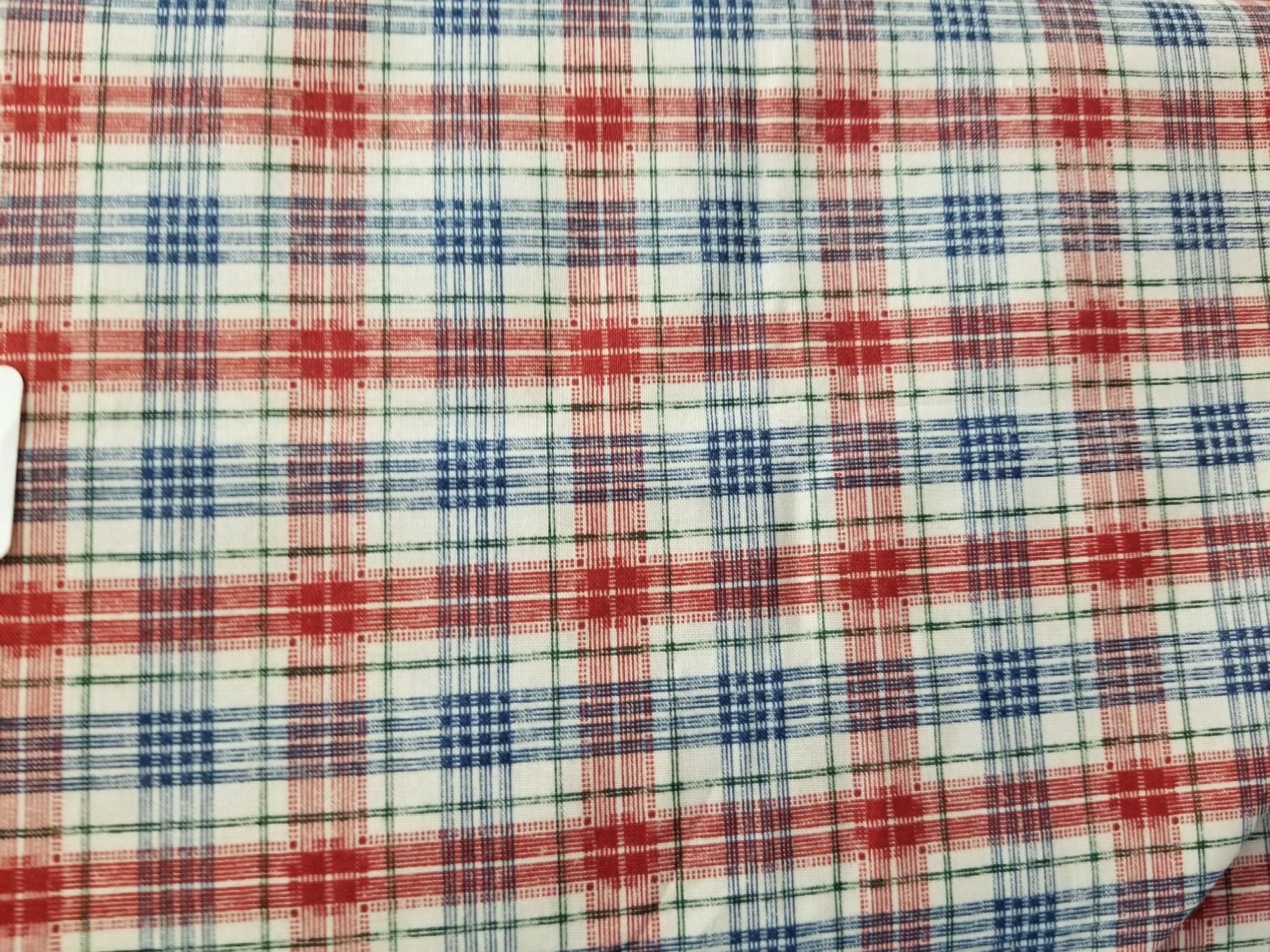 Fabric 100% Cotton Red and Blue Plaid