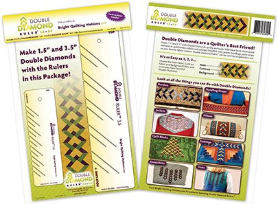 DOUBLE DIAMOND RULER by Bright Quilting Notions