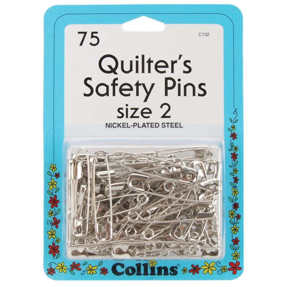 Notions Quilting Pins Quilters Safety Pins Size 2  75 Ct