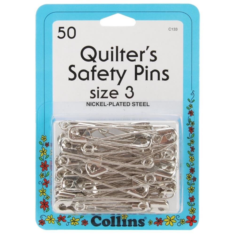 Quilters Safety Pins Size 3 50 per box