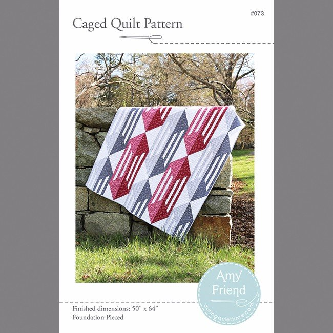 Pattern Caged Quilt Pattern - Foundation Pieced by Amy Friend