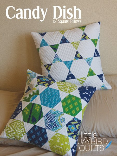 Candy Dish 16 Square Pillow pattern by Little Jaybird Quilts JBQ 125