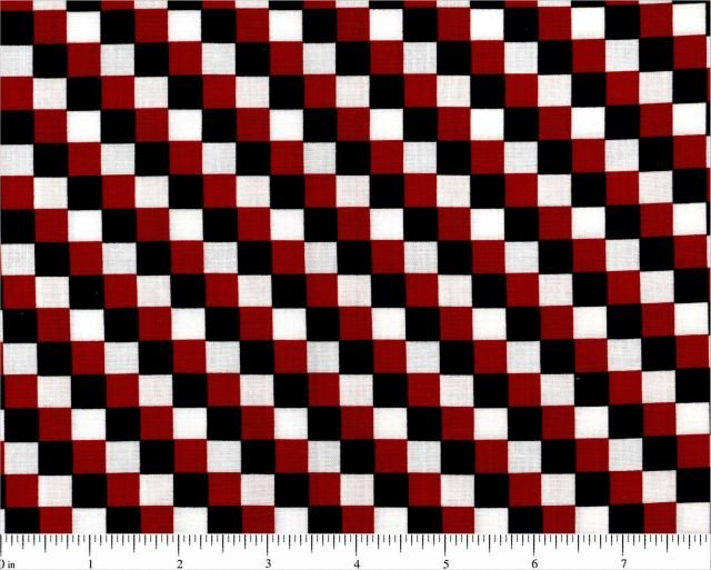 Basically Yours Red White and Blue Collection Checkerboard 3/8'' checks 44/45''