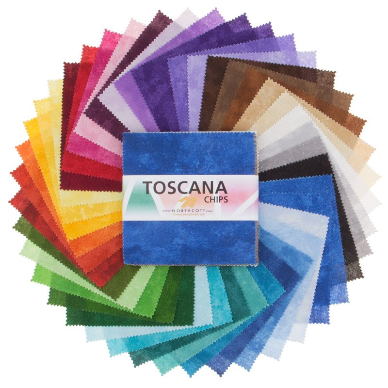 Layer Cake 10 square Assorted Tile Pack 42 pcs. Toscana Collection by Northcott - copy