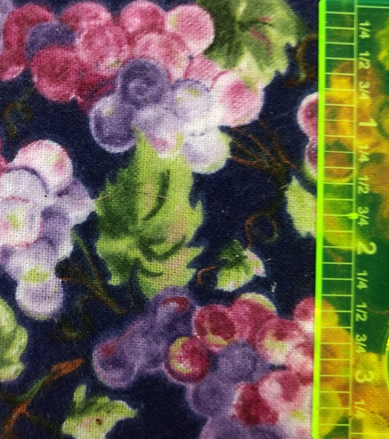 Fabric Cotton Flannel Classic Cottons - pink, purple, grapes on Navy background