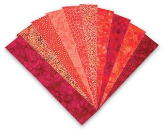 Blank Quilting Color Stories Red Fabrications Strips 2 1/2'' x 44'' - 20 pieces