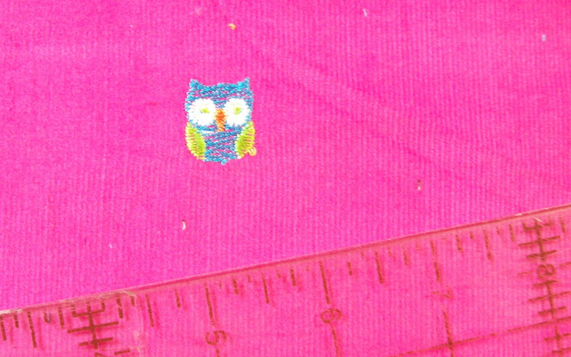 Fabric Fashion Famous Names Corduroy 56'' wide Hot Fuchsia with Owls