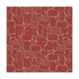 Fabric Country Flock Wood Block 100% Cotton