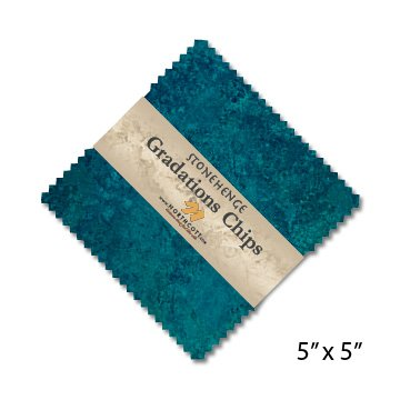 Stonehenge Gradations Slate Stone Chips 42 5-inch Squares Charm Pack Northcott by Northcott
