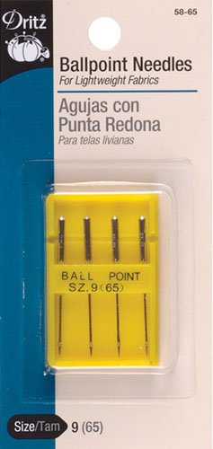 Dritz Sewing Machine Ballpoint Machine Needle size 9 4ct