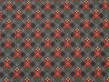 Fabric Cotton Dandy Plaid by Michael Miller Red Green Gold Blue 44/45'' 100 % Cotton