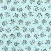 FLOWER TOSS Blue Michael Miller 44/45 100% Cotton