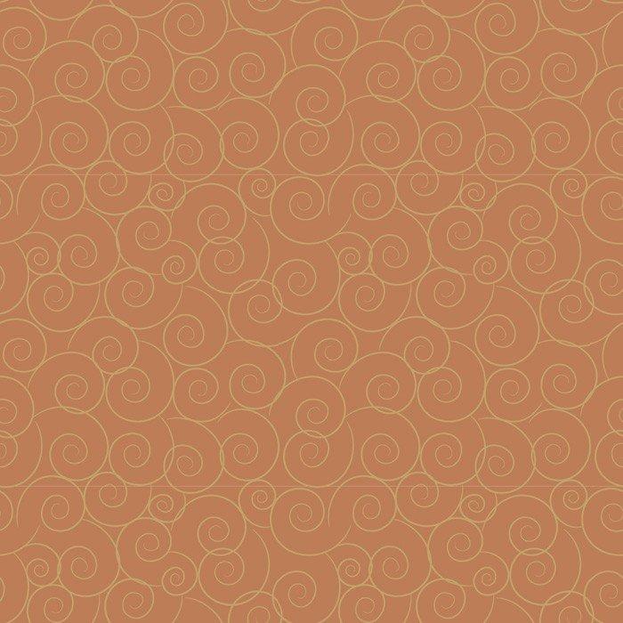 Fabric Cotton David Textiles Linda's Scrolls Orange DT-2608-4C-19