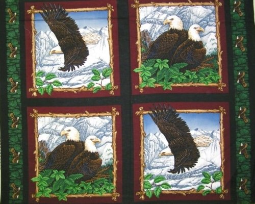 Panel Animal Panel Pillow Eagle Overlook 17 inch 4 per yard 100% cotton