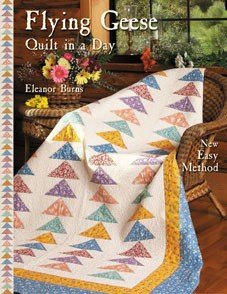 ELEANOR BURNS QUILT IN A DAY FLYING GEESE  NEW EASY METHOD