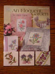 Booklet American School of Needlework; Cross Stitch; An Eloquent Garden by Alice Okon