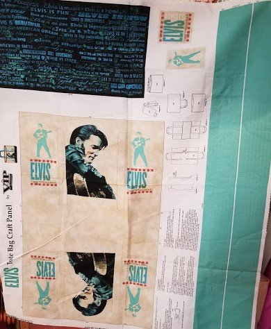 Elvis Tote Bag Craft Panel by Cranston
