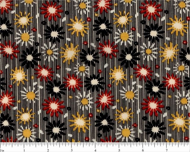 The Gallery Collection Emma Lenas Treasures 30's Fabrics Red and Black Floral Choice Fabrics 44/45 Fabric Cotton