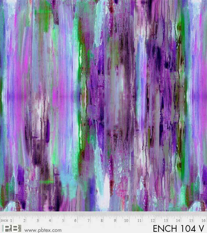 Fabric 100% Cotton Enchanted Stripe Purple by P&B Textiles