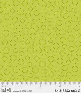 Fabric Cotton Tonal Bear Essentials 3 Dotted Rings Lime Green P&B Textiles