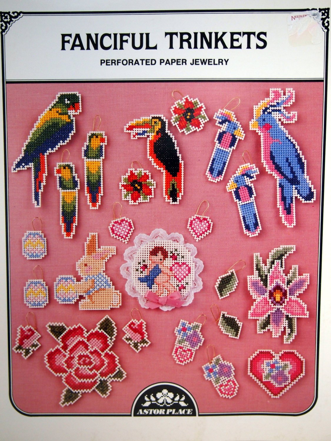 FANCIFUL TRINKETS -Perforated Paper Jewelry by Astor Place Pamplet Book 37