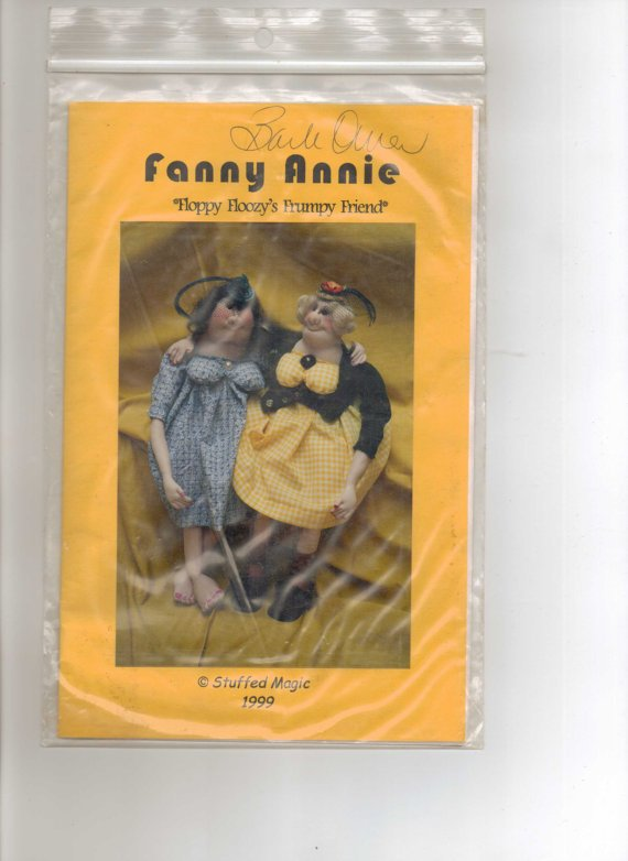 Fanny Annie  Floppy Floozy's Frumpy Friend Soft Doll Pattern by Stuffed Magic