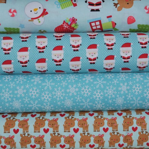 Fat Quarter Christmas $1.99 each 18'' x 21''