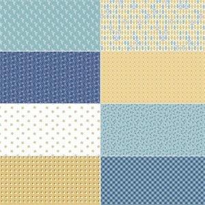 Riley Blake Reproduction Cozy Christmas Navy Fat Eighth Panel SKU# FEP5362-NAVY 44/45 100% Cotton