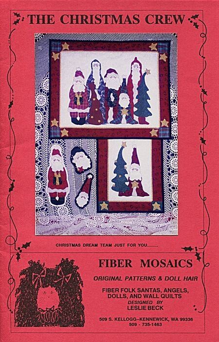 The Christmas Crew by Fiber Mosaics Vintage Pattern 1992