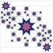 David Gilleland Floating Star'elations Fabric kit only not cut and labelled