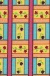 Fabric Cotton Garden Party Troy Corporation Floral Check 3D 44/45'' 100% Cotton