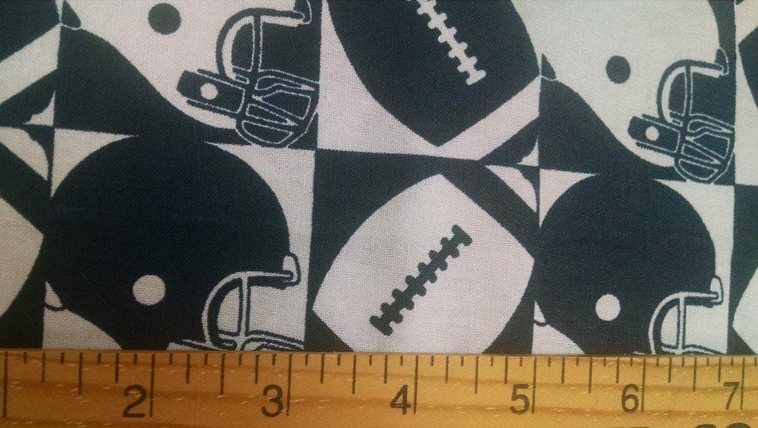 Footballs and Helmets Navy and White for JoAnn Fabrics