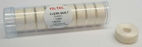 Fil-Tec Prewound Bobbin, Class L Cotton Cream 10 per tube