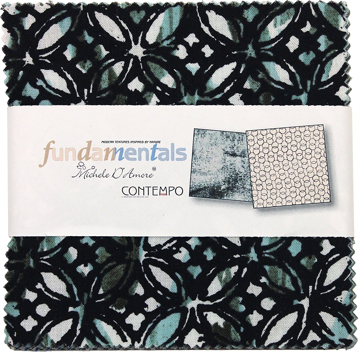 Fabric Cotton Squares Charm Pack Michele D'Amore Fundamentals 5X5 Pack 42 5-inch Squares